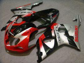 Suzuki GSX-R 1000 2000-2002 K1 K2 Injection ABS verkleidung - anderen - Rot/Silber/Schwarz