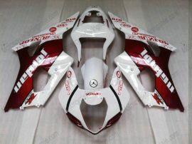 Suzuki GSX-R 1000 2003-2004 K3 Injection ABS verkleidung - Jordan - Weiß/Rot