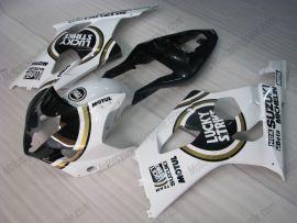 Suzuki GSX-R 1000 2003-2004 K3 Injection ABS verkleidung - Lucky Strike - Weiß/Schwarz