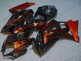 Suzuki GSX-R 1000 2007-2008 K7 Injection ABS verkleidung - Flame Orange - Schwarz