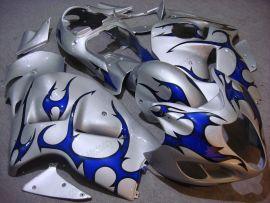 Suzuki GSX-R 1300 Hayabusa 1996-2007 Injection ABS verkleidung - Blau Flame - Silber