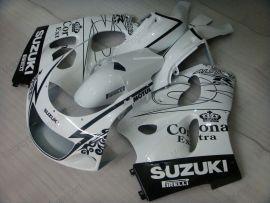 Suzuki GSX-R 600/750 1997-1999 ABS verkleidung - Corona - Weiß/Schwarz