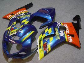 Suzuki GSX-R 600/750 2001-2003 K1 K2 Injection ABS verkleidung - Movistar - Blau/Gelb/Orange