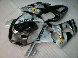 Suzuki GSX-R 600/750 2001-2003 K1 K2 Injection ABS verkleidung - anderen - Schwarz/Silber