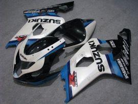 Suzuki GSX-R 600/750 2004-2005 K4 Injection ABS verkleidung - Dunlop - Weiß/Blau/Schwarz