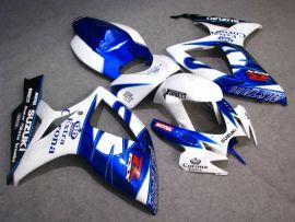 Suzuki GSX-R 600/750 2006-2007 K6 Injection ABS verkleidung - Corona - Weiß/Blau