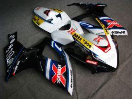 Suzuki GSX-R 600/750 2006-2007 K6 Injection ABS verkleidung - Dark Dog - Schwarz/Weiß