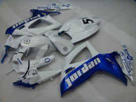 Suzuki GSX-R 600/750 2006-2007 K6 Injection ABS verkleidung - Jordan - Weiß/Blau