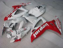 Suzuki GSX-R 600/750 2006-2007 K6 Injection ABS verkleidung - Jordan - Weiß/Rot