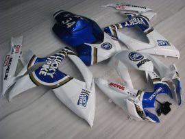 Suzuki GSX-R 600/750 2006-2007 K6 Injection ABS verkleidung - Lucky Strike - Weiß/Blau