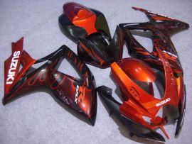Suzuki GSX-R 600/750 2006-2007 K6 Injection ABS verkleidung - Orange Flame - Schwarz