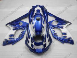 Yamaha YZF-600R 1994-2007 ABS verkleidung - Blau Flame - Weiß