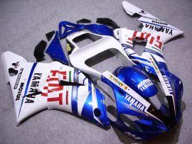 Yamaha YZF-R1 2000-2001 Injection ABS verkleidung - FIAT - Weiß/Blau