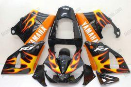 Yamaha YZF-R1 2000-2001 Injection ABS verkleidung - Orange Flame - Golden/Schwarz