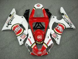 Yamaha YZF-R1 2000-2001 Injection ABS verkleidung - Lucky Strike - Rot/Weiß