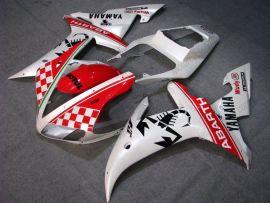 Yamaha YZF-R1 2002-2003 Injection ABS verkleidung - ABARTH - Weiß/Rot