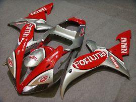 Yamaha YZF-R1 2002-2003 Injection ABS verkleidung - Fortuna - Rot/Silber