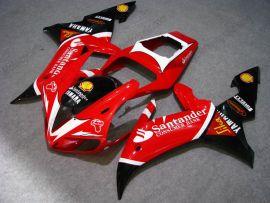 Yamaha YZF-R1 2002-2003 Injection ABS verkleidung - Santander - Rot/Schwarz