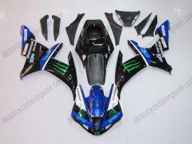Yamaha YZF-R1 2002-2003 Injection ABS verkleidung - Monster - Schwarz/Blau