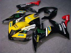 Yamaha YZF-R1 2004-2006 Injection ABS verkleidung - Monster - Schwarz/Gelb