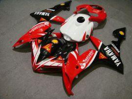 Yamaha YZF-R1 2004-2006 Injection ABS verkleidung - Santander - Rot/Schwarz/Weiß