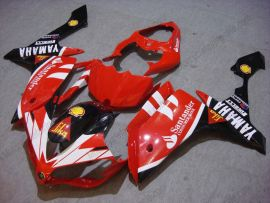 Yamaha YZF-R1 2007-2008 Injection ABS verkleidung - Santander - Rot/Schwarz/Weiß
