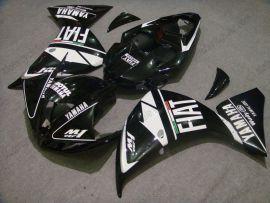 Yamaha YZF-R1 2009-2011 Injection ABS verkleidung - FIAT - Schwarz/Weiß