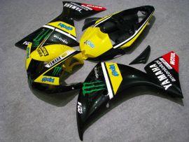 Yamaha YZF-R1 2009-2011 Injection ABS verkleidung - Monster - Schwarz/Gelb