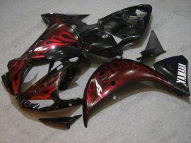 Yamaha YZF-R1 2009-2011 Injection ABS verkleidung - Rot Flame - Schwarz/Rot