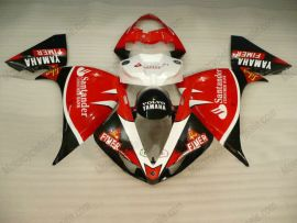 Yamaha YZF-R1 2009-2012 Injection ABS verkleidung - Santander - Rot/Schwarz