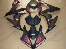 Yamaha YZF-R1 2009-2011 Injection ABS verkleidung - Flame - Schwarz/Rot
