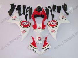 Yamaha YZF-R1 2009-2011 Injection ABS verkleidung - Lucky Strike - Weiß/Rot
