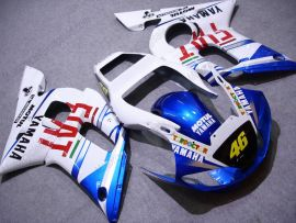 Yamaha YZF-R6 1998-2002 Injection ABS verkleidung - FIAT - Weiß/Blau