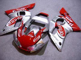 Yamaha YZF-R6 1998-2002 Injection ABS verkleidung - Fortuna - Rot/Silber