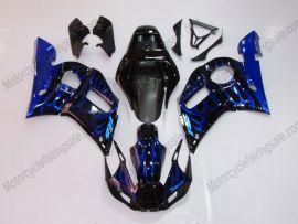 Yamaha YZF-R6 1998-2002 Injection ABS verkleidung - Flame - Schwarz/Blau