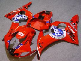 Yamaha YZF-R6 2003-2004 Injection ABS verkleidung - FIAT - Rot