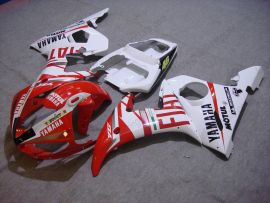 Yamaha YZF-R6 2003-2004 Injection ABS verkleidung - FIAT - Weiß/Rot