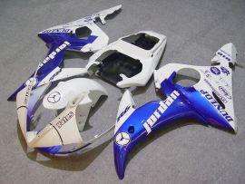 Yamaha YZF-R6 2003-2004 Injection ABS verkleidung - Jordan - Blau/Weiß