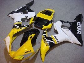 Yamaha YZF-R6 2005 Injection ABS verkleidung - Motul - Gelb/Schwarz/Weiß