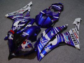 Yamaha YZF-R6 2008-2014 Injection ABS verkleidung - FIAT - Blau/Weiß