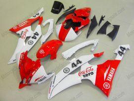 Yamaha YZF-R6 2008-2014 Injection ABS verkleidung - Zero - Rot/Weiß