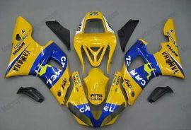 Yamaha YZF-R1 2000-2001 Injection ABS verkleidung - Camel - Gelb/Blau