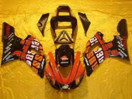 Yamaha YZF-R1 2000-2001 Injection ABS verkleidung - Rossi - Schwarz/Orange