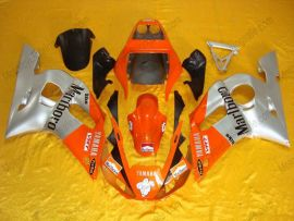 Yamaha YZF-R6 1998-2002 Injection ABS verkleidung - anderen - Silber/Orange