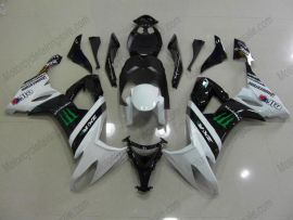 Kawasaki NINJA ZX10R 2008-2010 Injection ABS verkleidung - Monster - Weiß/Schwarz
