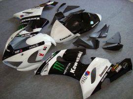 Kawasaki NINJA ZX6R 2005-2006 Injection ABS verkleidung - Monster - Schwarz/Weiß