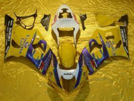 Suzuki GSX-R 1000 2003-2004 K3 Injection ABS verkleidung - Corona - Gelb/Blau/Weiß