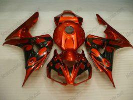 Honda CBR1000RR 2006-2007 Injection ABS verkleidung - Flame - Orange/Golden/Schwarz