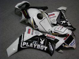 Honda CBR1000RR 2008-2011 Injection ABS verkleidung - PlayBoy - Weiß/Schwarz