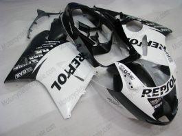 Honda CBR 1100XX BLACKBIRD 1996-2007 Injection ABS verkleidung - Repsol - Weiß/Schwarz
